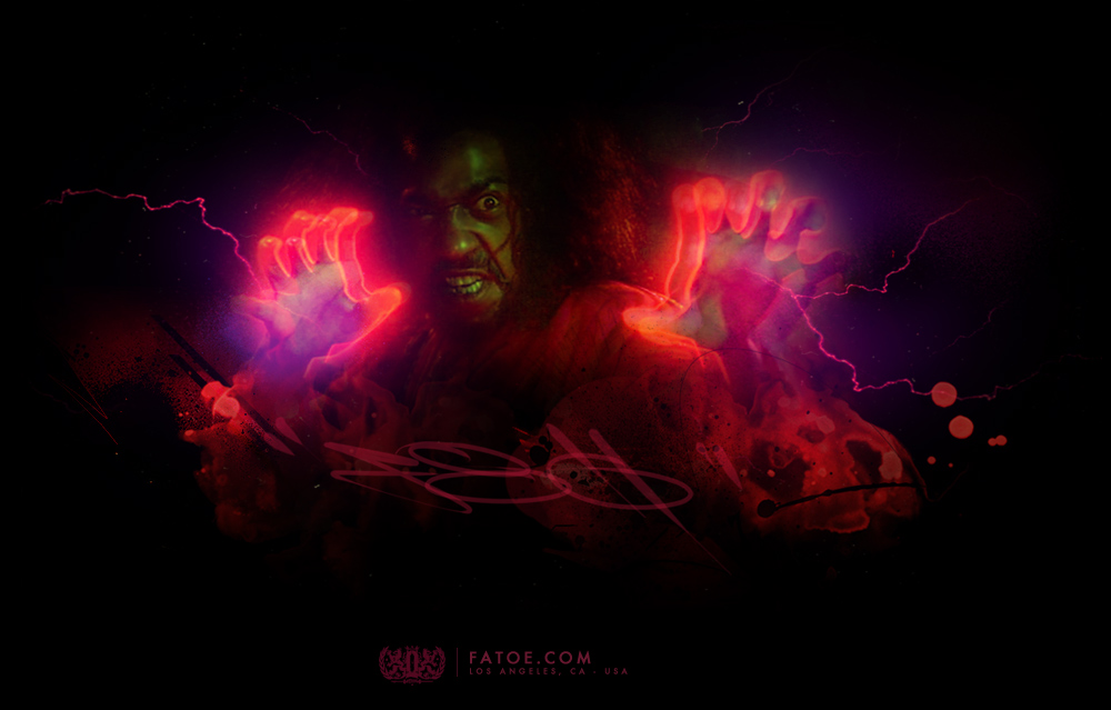 Shonuff Red Glow Artwork by Fatoe1
