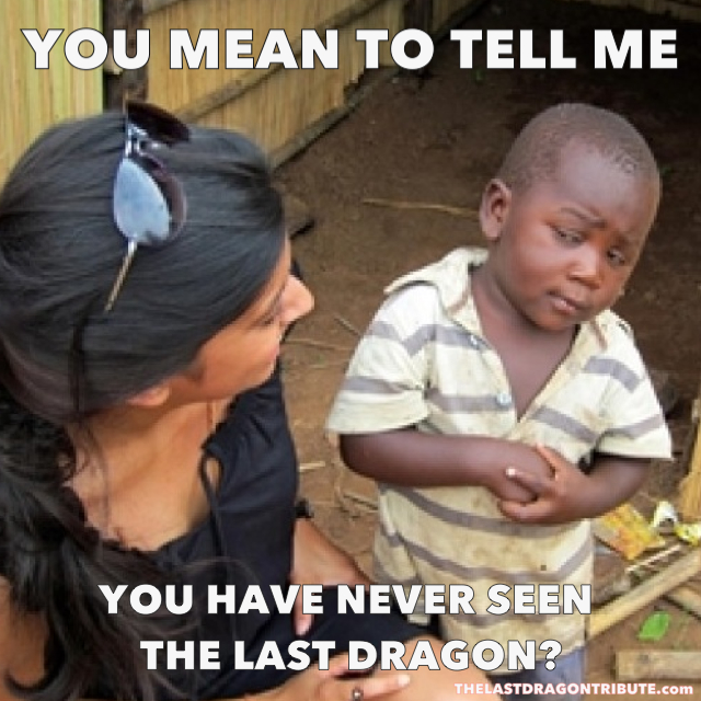 You Mean to Tell Me You Have Never Seen The Last Dragon?