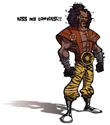 sho-nuff kiss my converse artwork by CCarman
