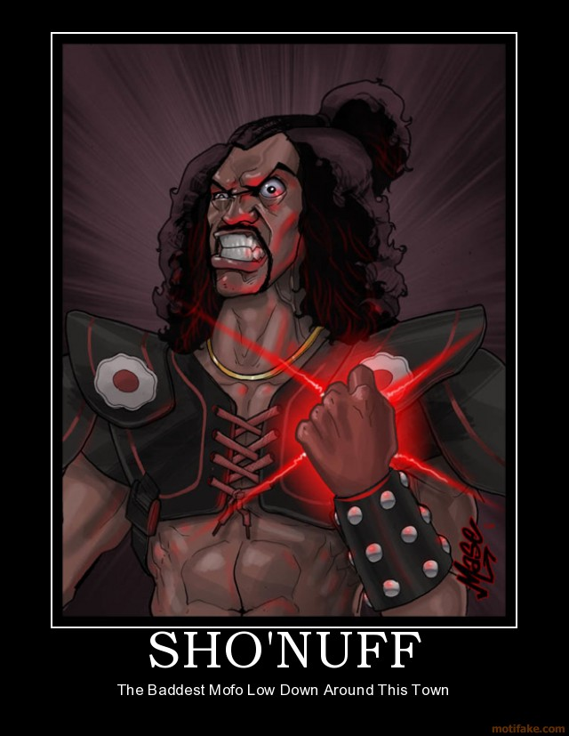 Shonuff Demotivational Poster