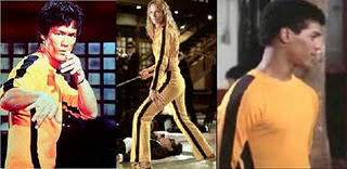 Yellow Jump Suit: Game o f Death: Bruce Lee. Kill Bill: Uma Thurman, The Last Dragon: Taimak