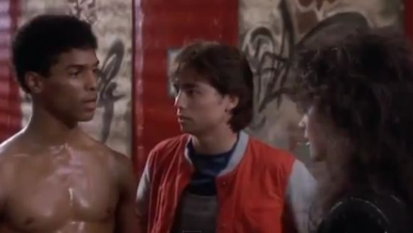Johnny  meets Laura Charles at Leroy's Dojo in The Last Dragon
