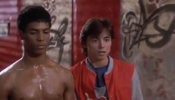 Johnny is star stuck by Laura Charles in Leroy's Dojo in The Last Dragon
