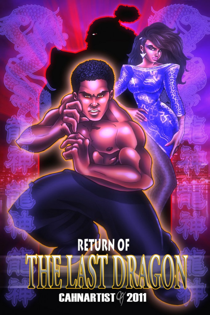 Return of The Last Dragon art by Harvey C. Cahn, Jr.