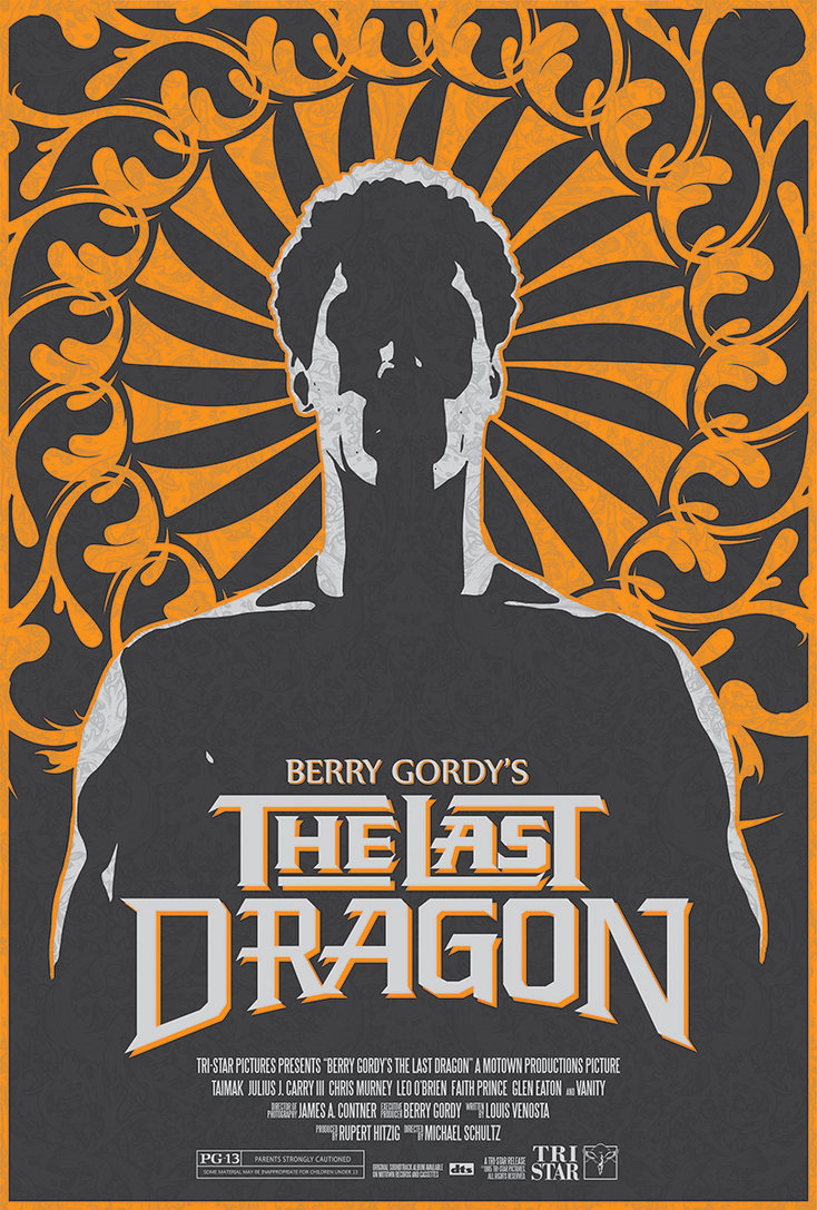 Original The Last Dragon Movie Poster Design by Matt Bartlett