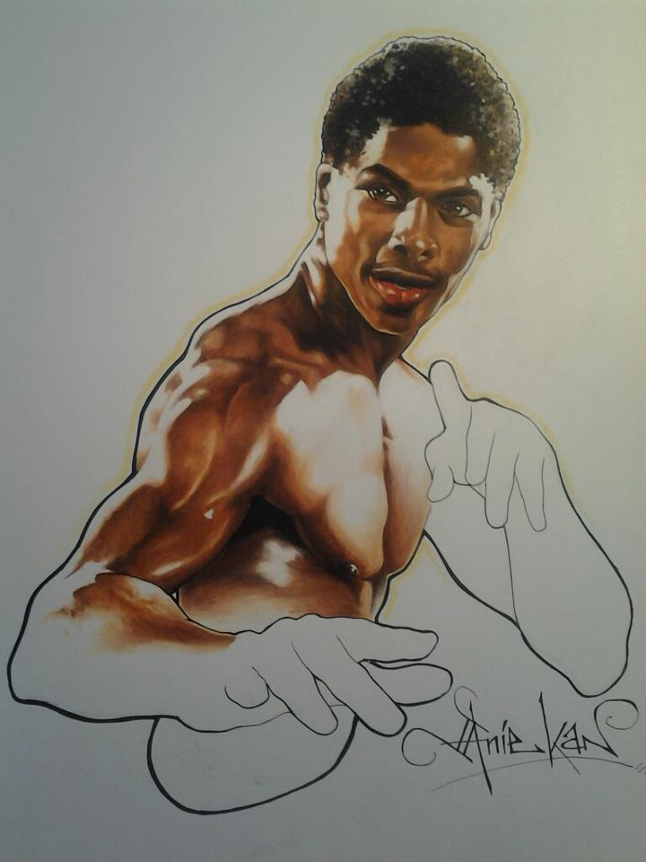 Bruce Leroy Taimak artwork The Last Dragon by Anie Kan