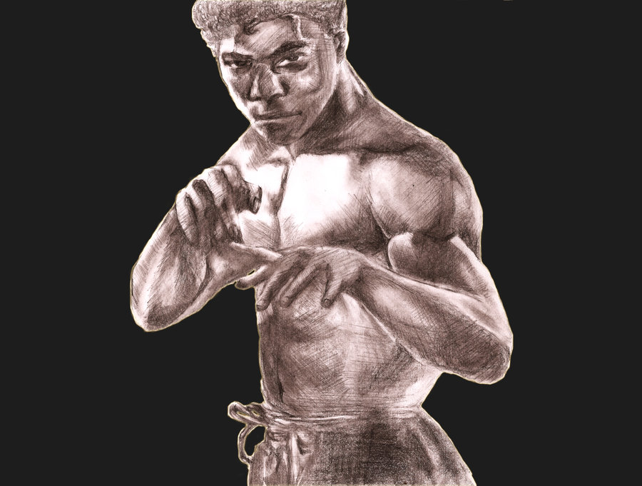 Bruce Leroy Sketch by Bobby Digital