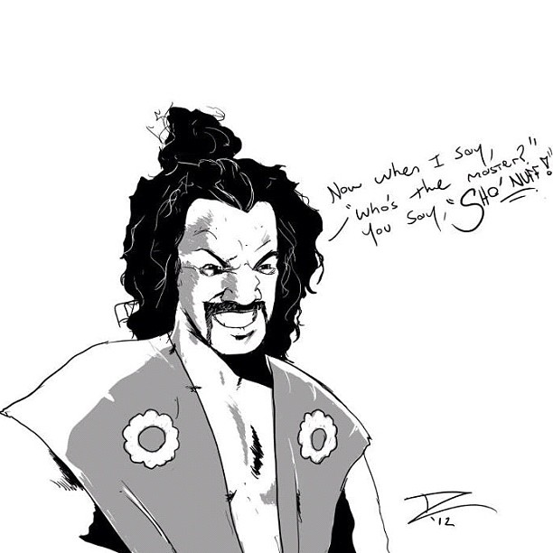 Sho'nuff digital sketch by @DaveJCummings