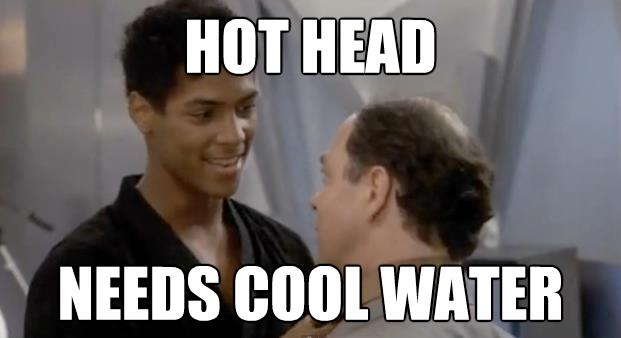 "Bruce Leroy: ""Hot Head Needs Cool Water"""
