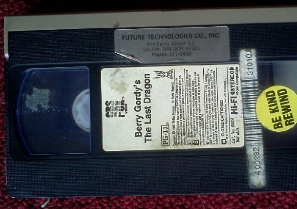 Berry Gordy's The Last Dragon VHS Tape