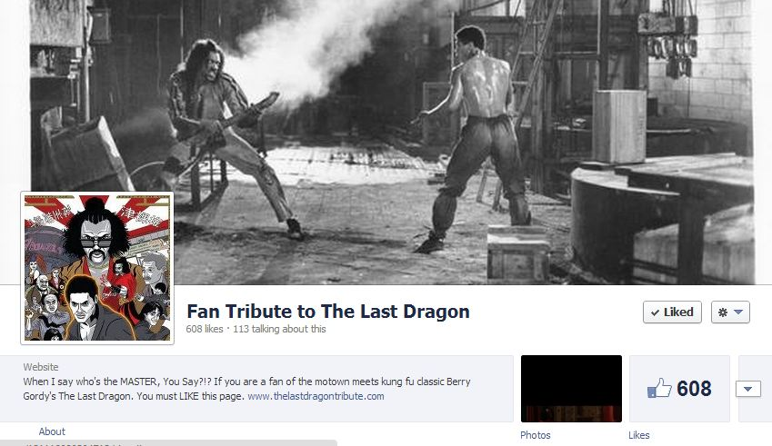 The Last Dragon Tribute on Facebook