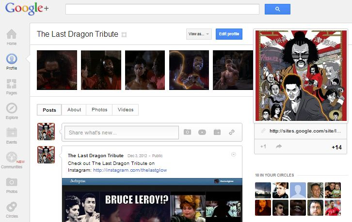 Google+ for The Last Dragon