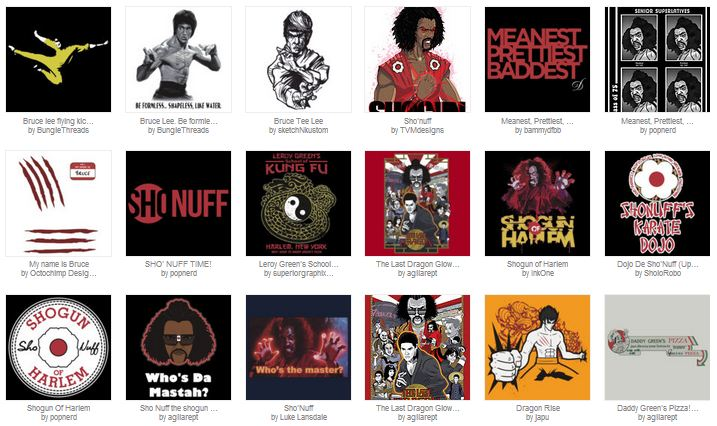 Buy Unique Bruce Lee, The Last Dragon & Martial T-Shirts