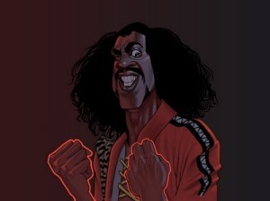 Sho'nuff's glowing Red Fists Artwork by Matt Hennen