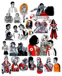 The Last Dragon Character Sketches by Matt Hennen