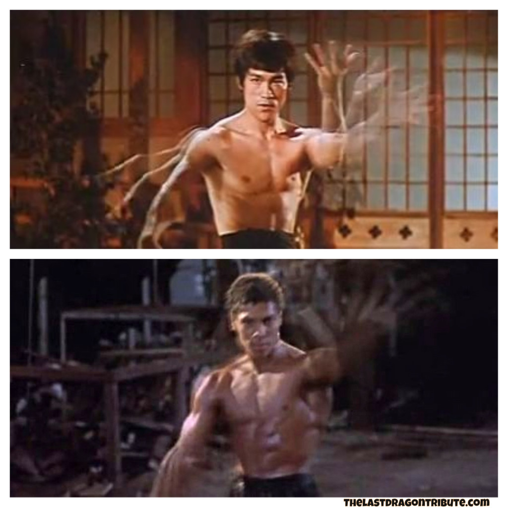 Bruce Lee's Slow Motion Arm Move - Chinese Connection vs Bruce Leroy's - The Last Dragon