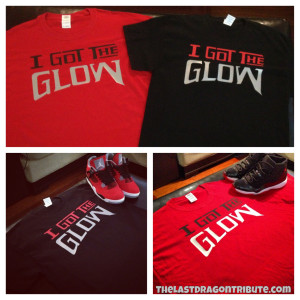 """The """"I Got The Glow"""" Red and Black Sho'nuff Remix T-Shirt - TheLastDragonTribute.com"""