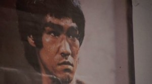 Picture of Bruce Lee in Leroy Green's Dojo