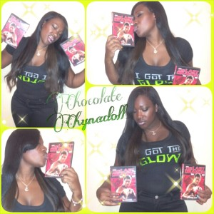 Chocolate Chyna Doll Loving The Last Dragon in her I Got The Glow T-Shirt