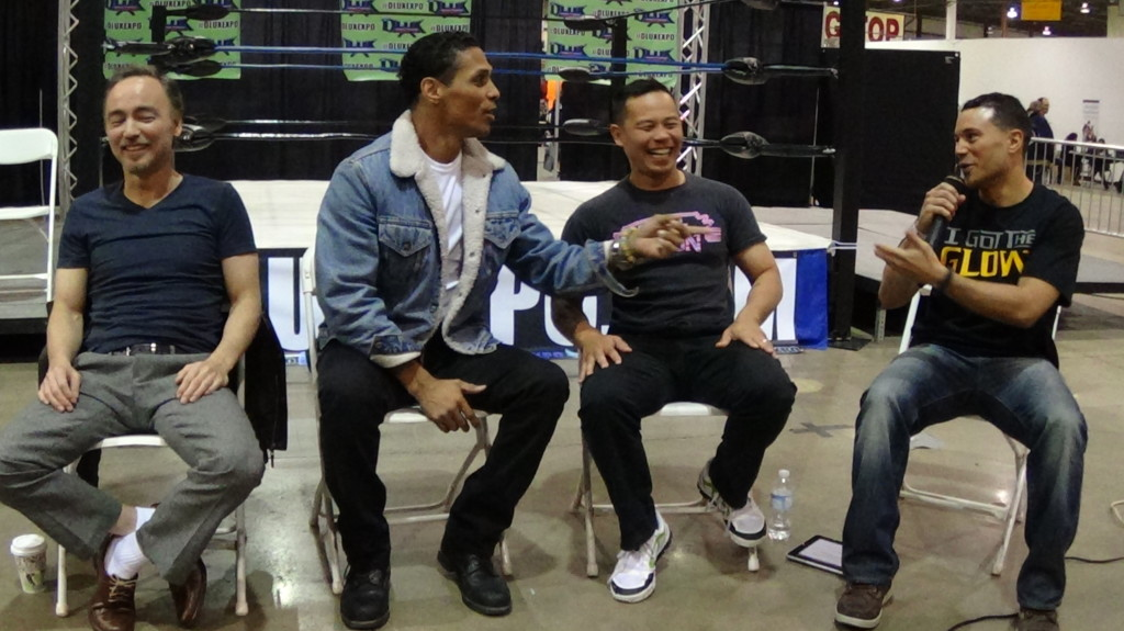 """""""I Got The Glow"""" T-Shirt in Action at The Last Dragon Reunion Panel March 2014"""