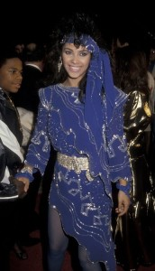 Denise Vanity Matthews Blue Dress 1985 Last Dragon Premiere