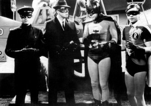Kato & The Green Hornet meet Batman & Robin