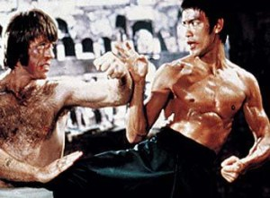 Chuck Norris vs Bruce Lee in Return of The Dragon