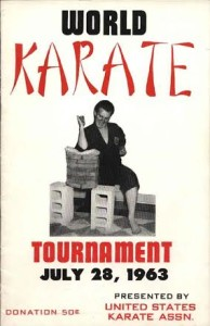 World Karate Tournament Poster July 28, 1963