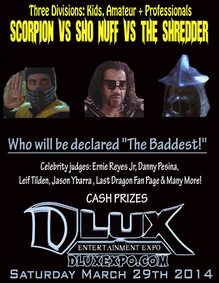 Shonuff vs Shredder vs Scorpion Costume/Cosplay Contest - The DLUX EXPO MAR 28-30 2014