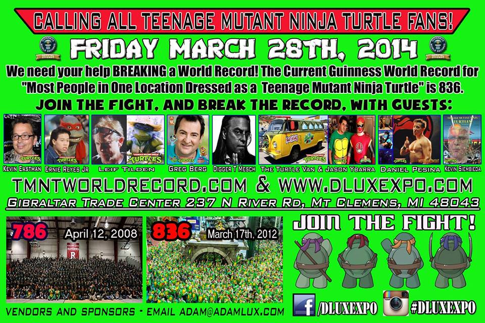 Teenage Mutant Ninja Turtle Custom World Record Attempt - Dlux Expo March 28 2014