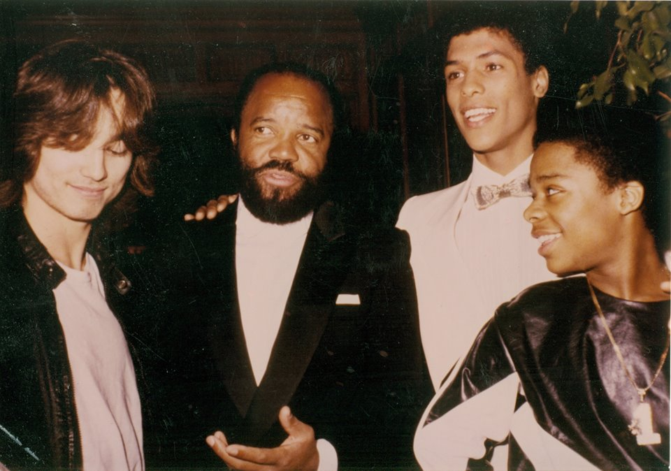 Glen Eaton Berry Gordy Taimak and Leo Obrien - The Last Dragon Premier 1985