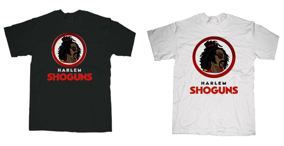 Sho'nuff Harlem Shoguns Black And White T-Shirts