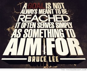 A goal is not always meant to be reached - Bruce Lee Quote