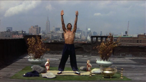 Bruce Leroy Meditating on The Roof - The Last Dragon