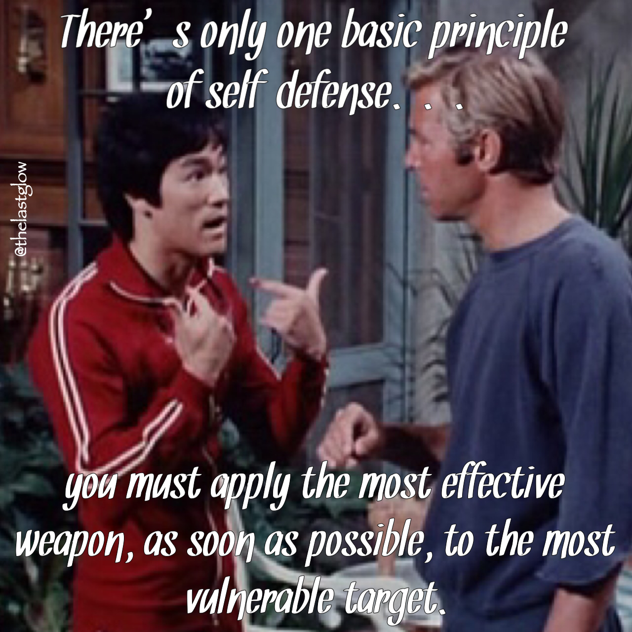 Bruce Lee Quotes On Self-Defense From