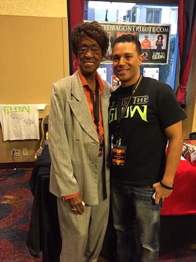 Helen Carry (Mama Nuff) and Craig Sutton from The Last Dragon Tribute