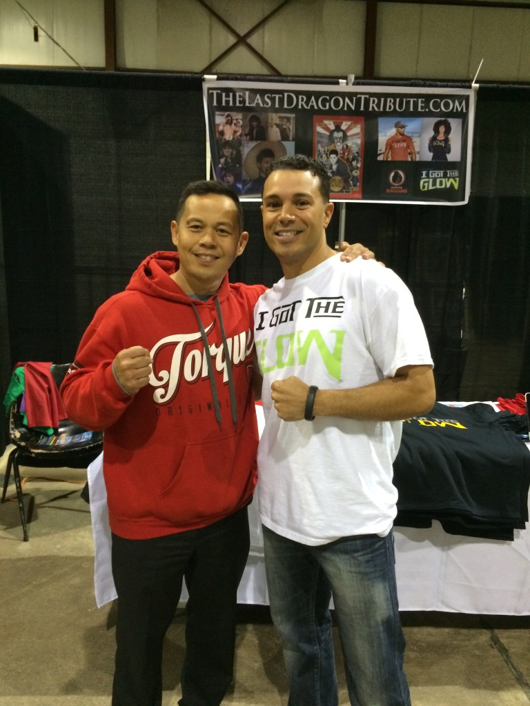 Ernie Reyes Jr and Craig Sutton at D-Lux Expo Last Dragon Reunion from March 2014