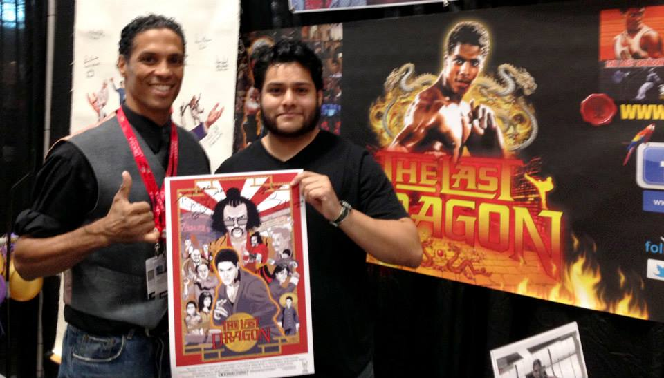 Mauro Balcazar presenting Last Dragon Artwork to Taimak