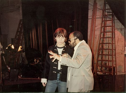 Berry Gordy Talking to Glen Eaton on set of The Last Dragon