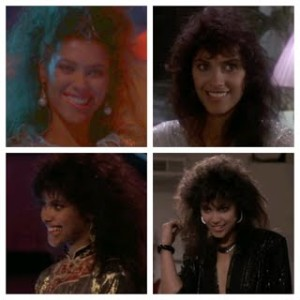 Vanity's Signature Lip Bite as Laura Charles in The Last Dragon
