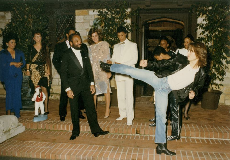 Glen Eaton aka Johnny Yu doing a Kick for Berry Gordy 1985