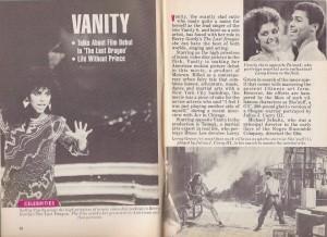 "1985 Magazine featuring Denise ""Vanity"" Matthews"