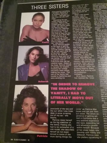 Black Elegance Magazine Featuring Vanity and her Sisters