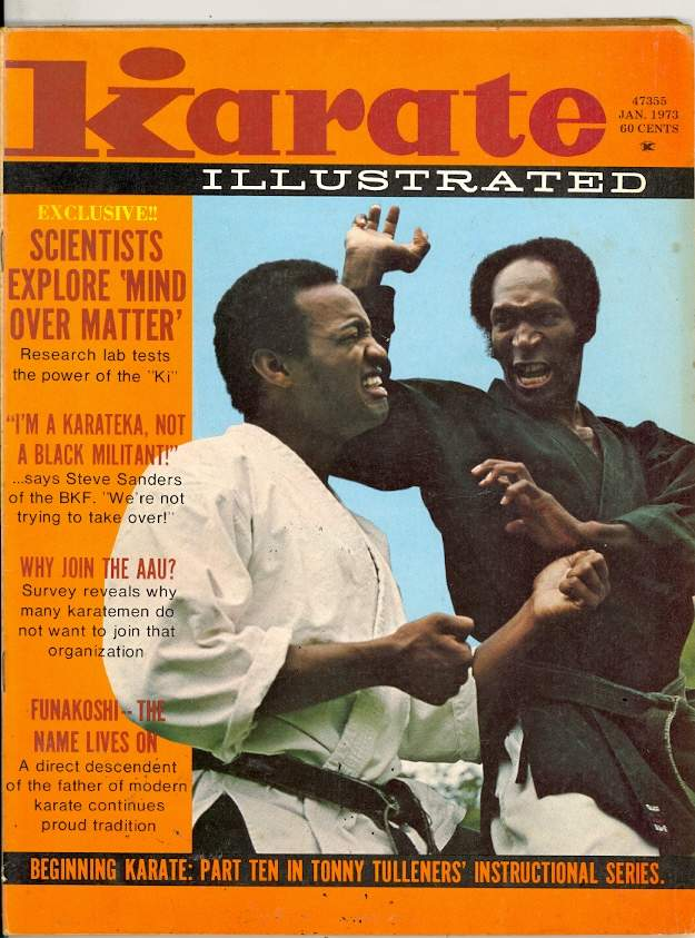 Steven Muhammad Karate Illustrated Cover Jan 1973