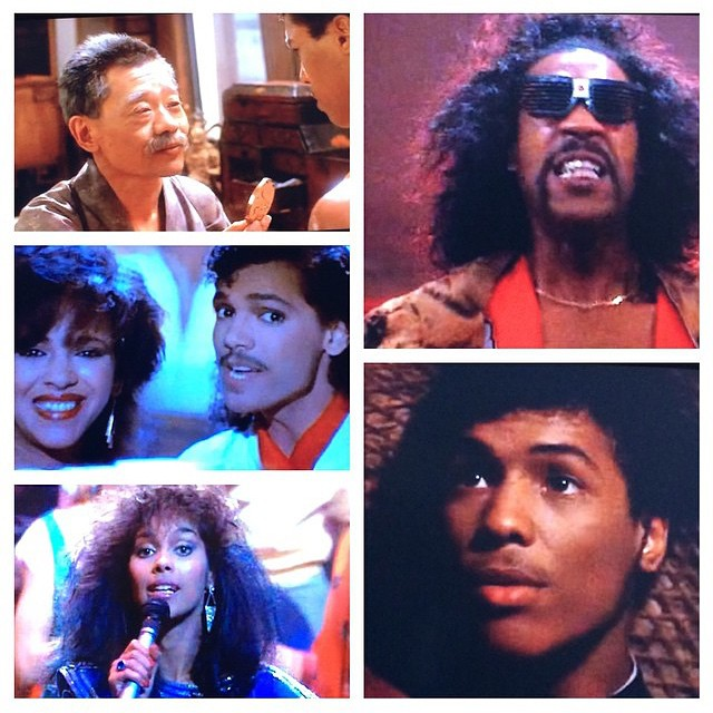 The Teacher, The Villain, The Hero, The Love Interest and The Soundtrack - The Last Dragon Collage