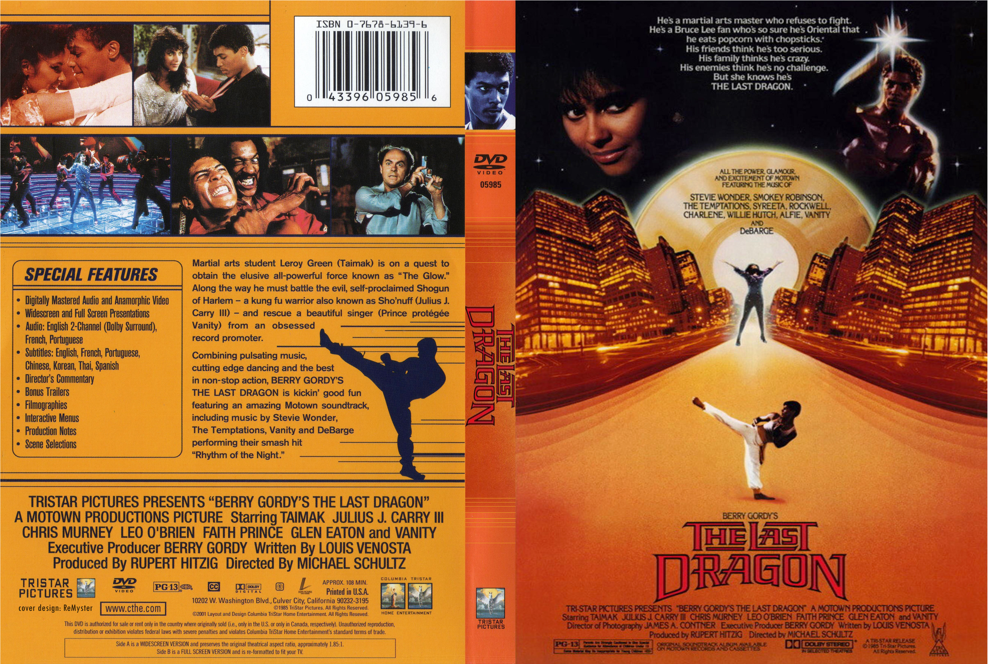 DVD with original Last Dragon Poster