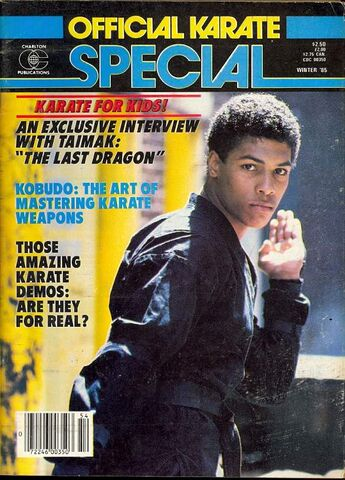 Official Karate Special Interview with Taimak Winter 1985