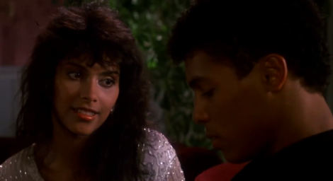 Denise Matthews and Taimak in The Last Dragon