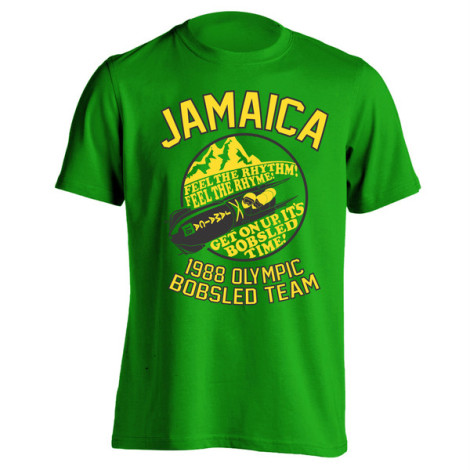 Feel The Rhythm Feel The Rhyme - Cool Runnings Jamaican Bobsled T-Shirt
