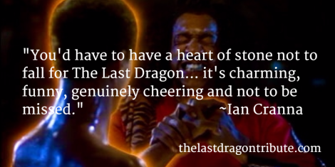 you have to have a heart of stone not to fall for The Last Dragon